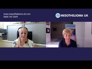 Mesothelioma UK Head of Nursing Lorraine Creech talks to Colette Willoughby