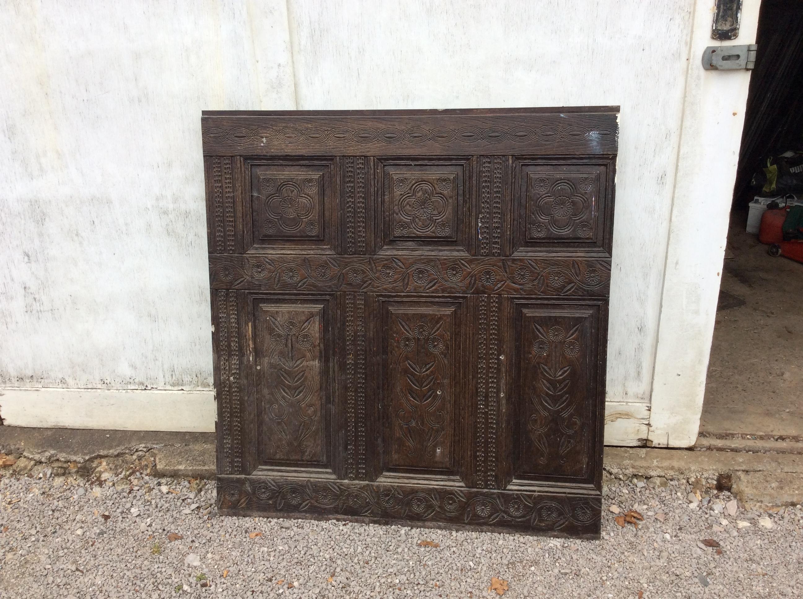 Imitation Oak paneling